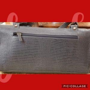 Michael Rome lizard embossed leather bag